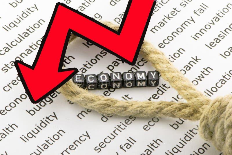 Οι πτώσεις οικονομίας στοκ φωτογραφίες
