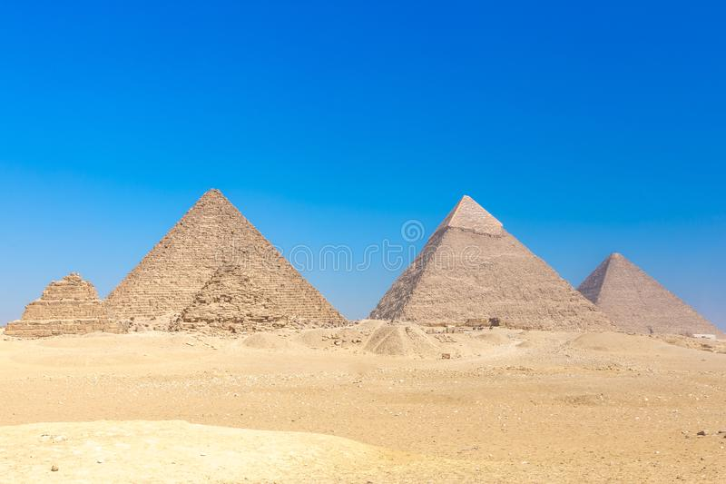 Οι πυραμίδες στην Αίγυπτο, Giza στοκ φωτογραφία με δικαίωμα ελεύθερης χρήσης
