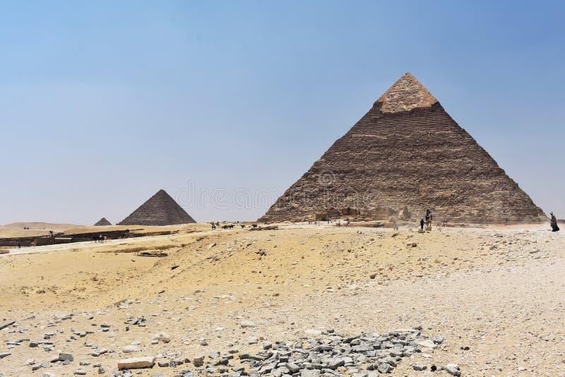 Οι πυραμίδες Giza, Κάιρο, Αίγυπτος στοκ φωτογραφία με δικαίωμα ελεύθερης χρήσης