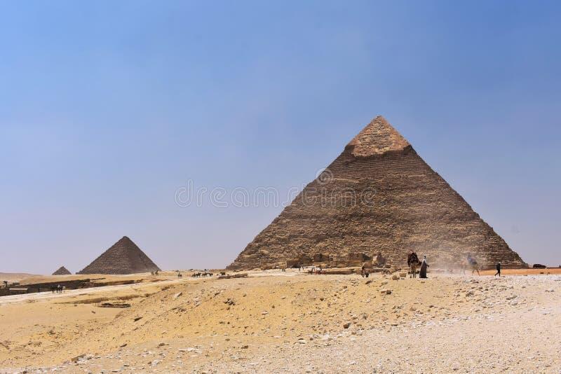 Οι πυραμίδες Giza, Κάιρο, Αίγυπτος στοκ εικόνες