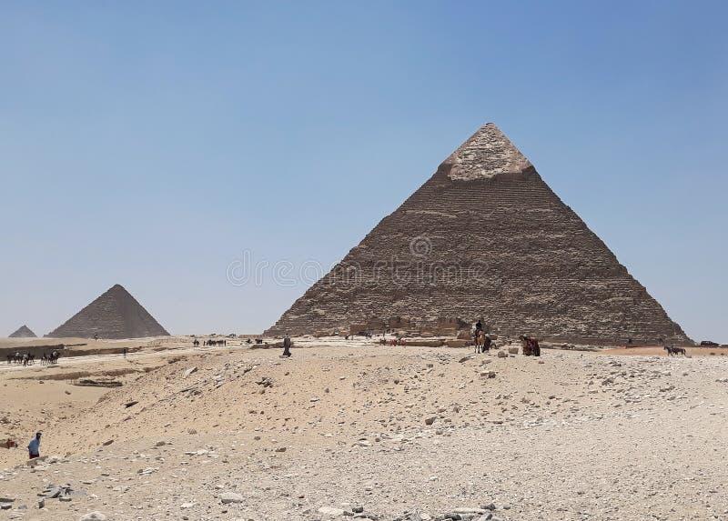 Οι πυραμίδες Giza, Κάιρο, Αίγυπτος στοκ εικόνα με δικαίωμα ελεύθερης χρήσης