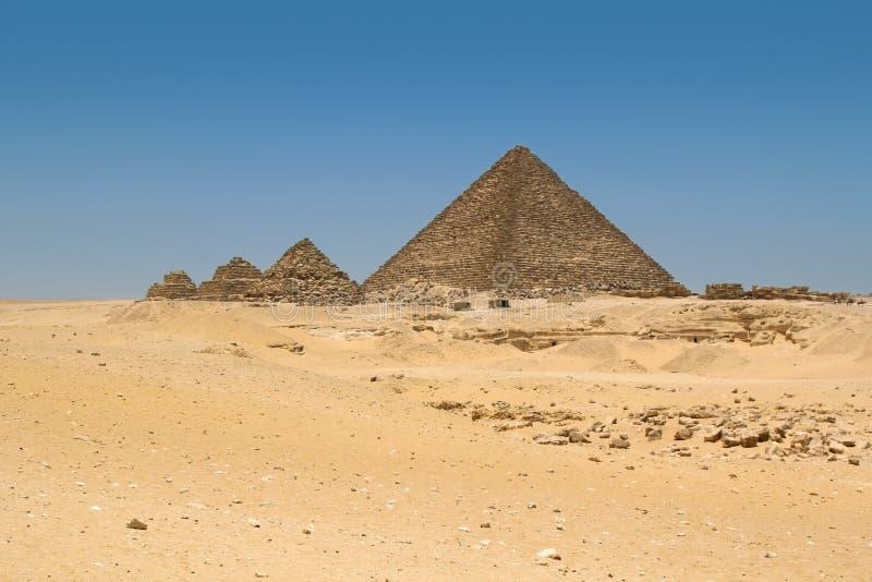 Οι πυραμίδες σε Giza, Αίγυπτος στοκ φωτογραφίες με δικαίωμα ελεύθερης χρήσης