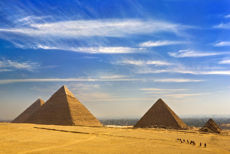 Οι πυραμίδες Giza στοκ φωτογραφίες
