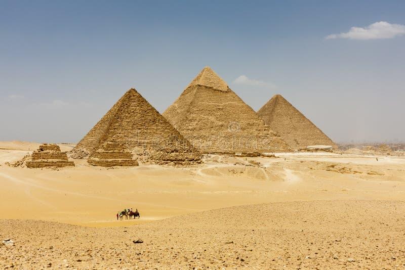 Οι πυραμίδες Giza στοκ εικόνα