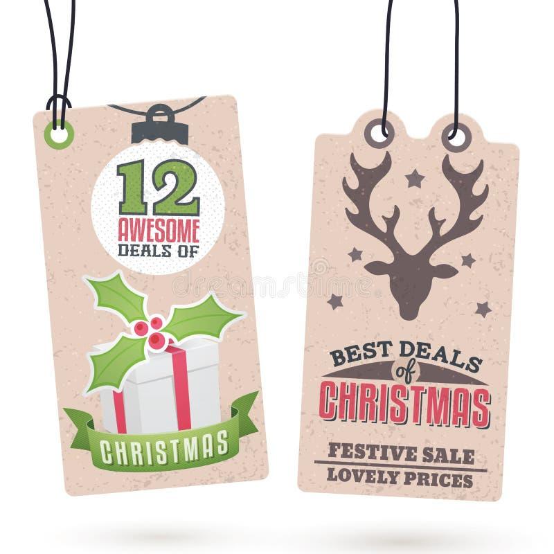 Οι πωλήσεις Χριστουγέννων κρεμούν τις ετικέττες ελεύθερη απεικόνιση δικαιώματος