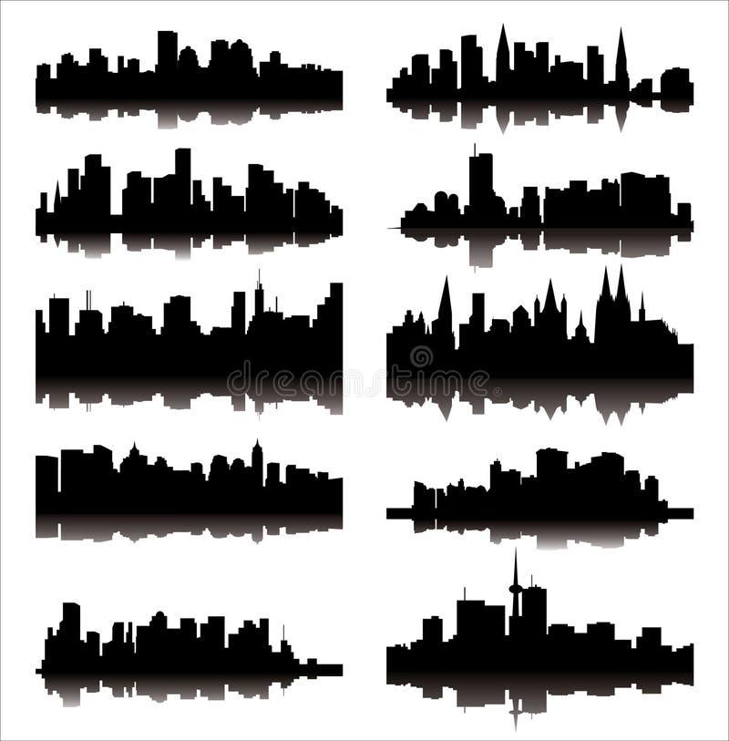 οι πόλεις απαρίθμησαν τον ελεύθερη απεικόνιση δικαιώματος