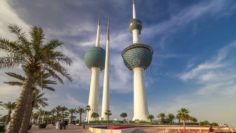 Οι πύργοι του Κουβέιτ timelapse hyperlapse - το πιό γνωστό ορόσημο της πόλης του Κουβέιτ Κουβέιτ, Μέση Ανατολή απόθεμα βίντεο