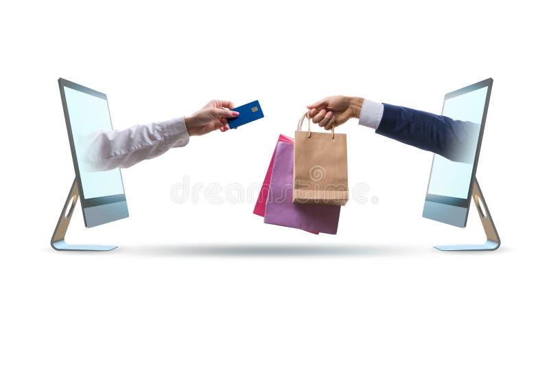 Οι σε απευθείας σύνδεση αγορές μέσω της αγοράς από Διαδίκτυο στοκ εικόνες με δικαίωμα ελεύθερης χρήσης