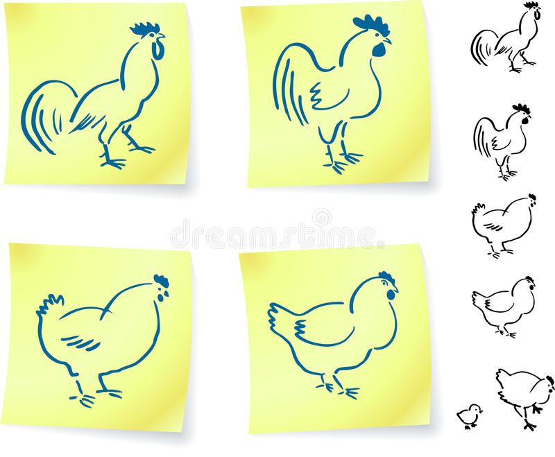 οι σημειώσεις κοτόπου&lambda διανυσματική απεικόνιση