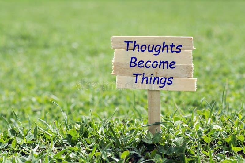 Οι σκέψεις γίνονται πράγματα στοκ εικόνες με δικαίωμα ελεύθερης χρήσης