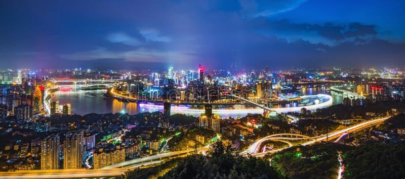 Οι σκηνές νύχτας Chongqing στοκ φωτογραφίες