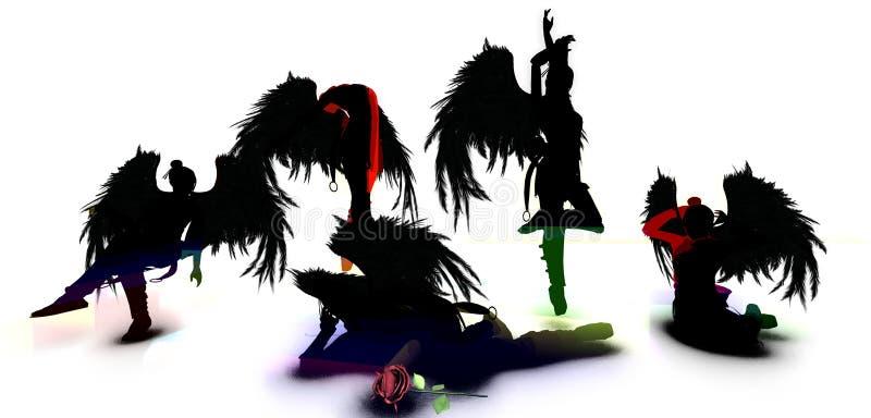 Οι σκοτεινές γοργόνες διανυσματική απεικόνιση