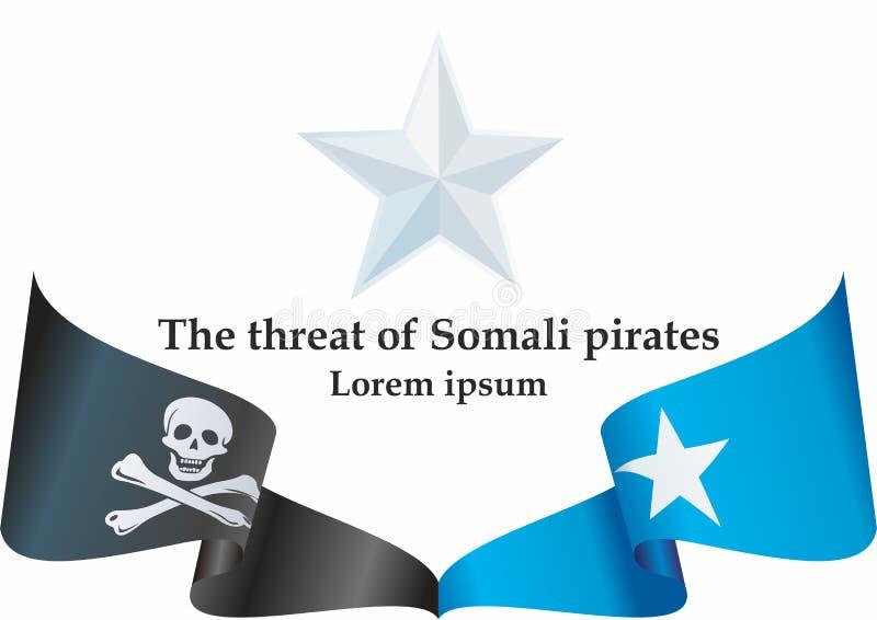 Οι σομαλικοί πειρατές σημαιοστολίζουν το σύνολο, ειδήσεις για ένα άλλο γεγονός με τους σομαλικούς πειρατές Πρότυπο για τις ειδήσε διανυσματική απεικόνιση