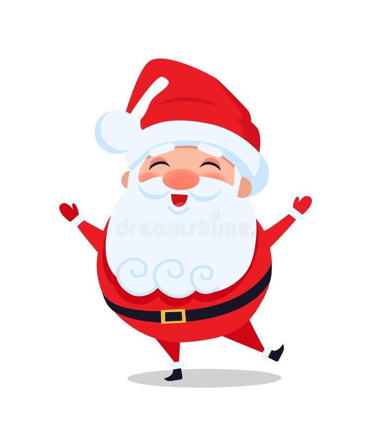 Οι στάσεις της Holly Άγιος Βασίλης σε ένα πόδι και τραγουδούν τη Carol ελεύθερη απεικόνιση δικαιώματος