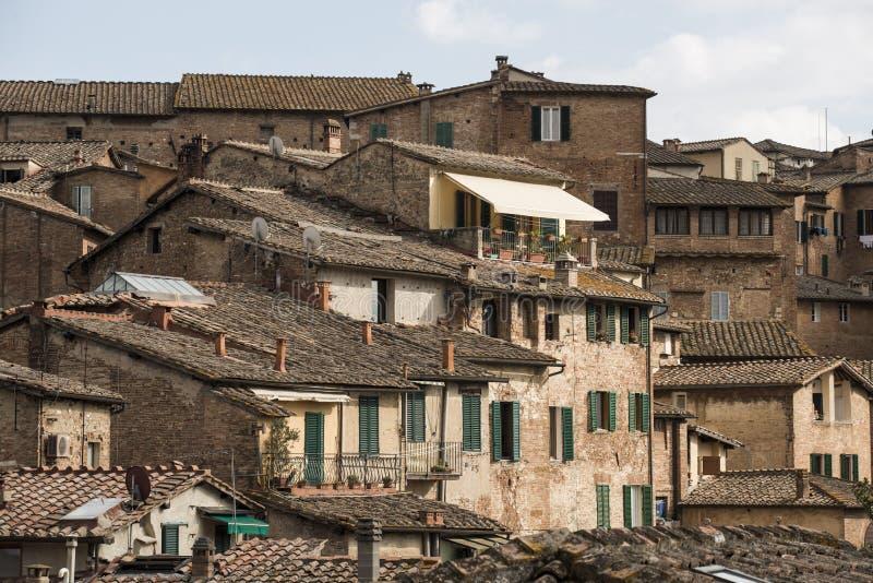 Οι στέγες της Σιένα στοκ φωτογραφία