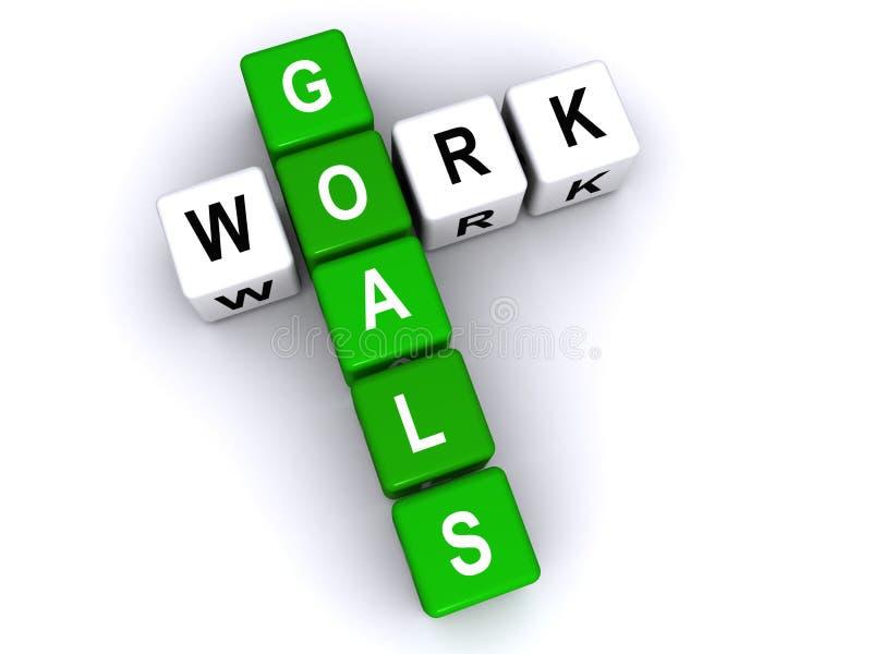 Οι στόχοι εργασίας χωρίζουν σε τετράγωνα επάνω ελεύθερη απεικόνιση δικαιώματος