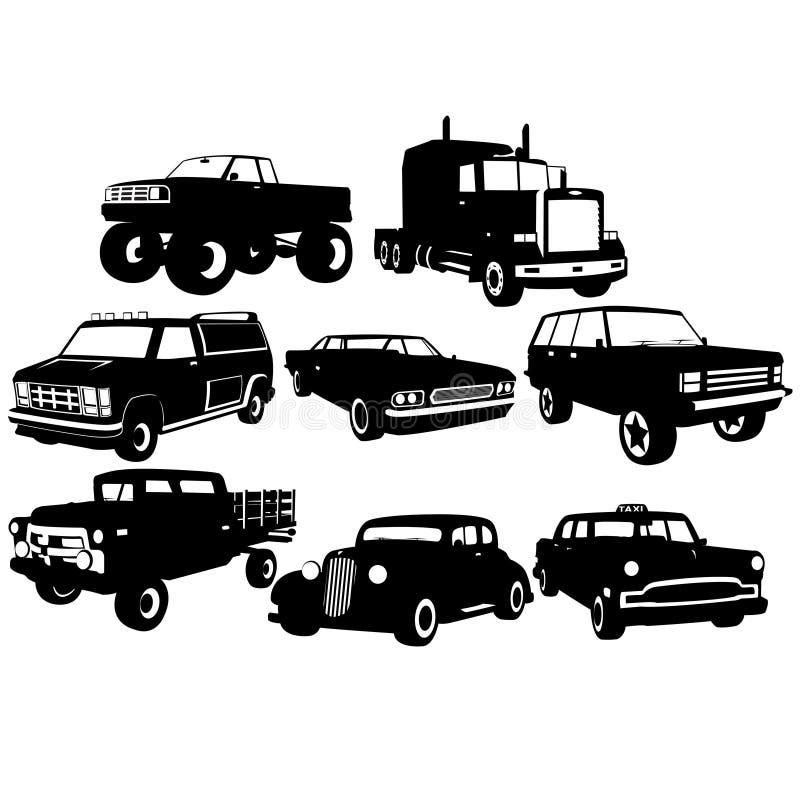 οι συλλογές αυτοκινήτων σχεδιάζουν το σας ελεύθερη απεικόνιση δικαιώματος