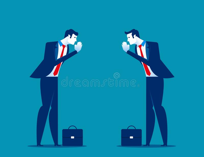 Οι συνέταιροι πληρώνουν το χαιρετισμό χεριών σεβασμού Εθιμοτυπία γραφείων διανυσματική απεικόνιση
