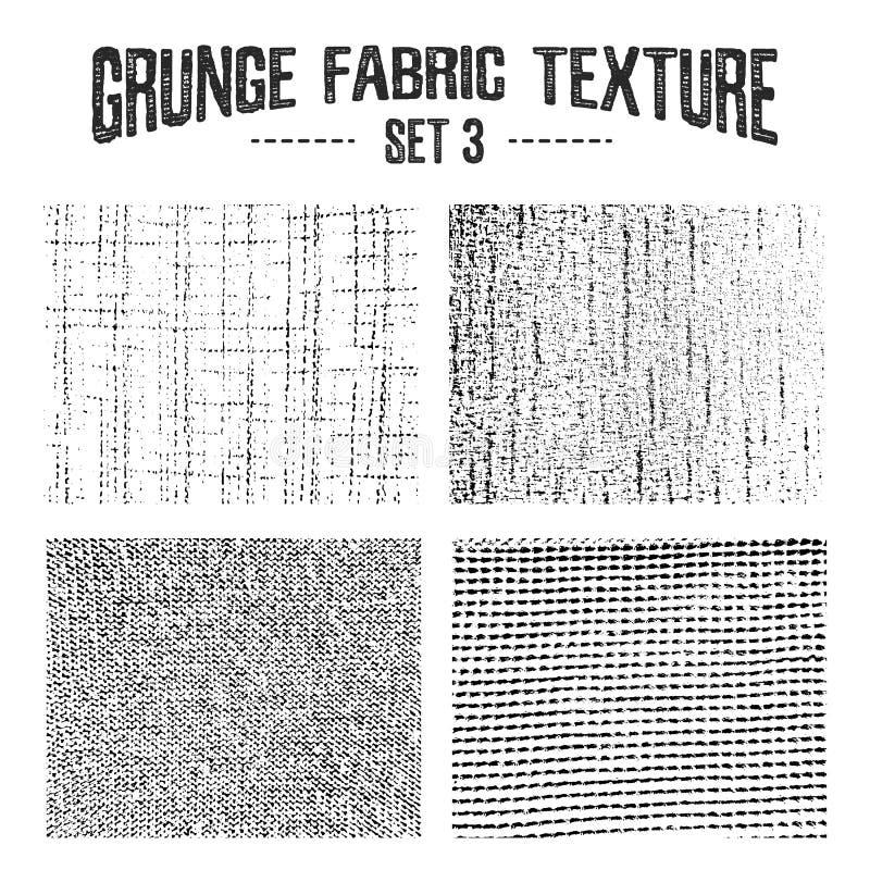 Οι συστάσεις υφάσματος Grunge θέτουν 3 απεικόνιση αποθεμάτων