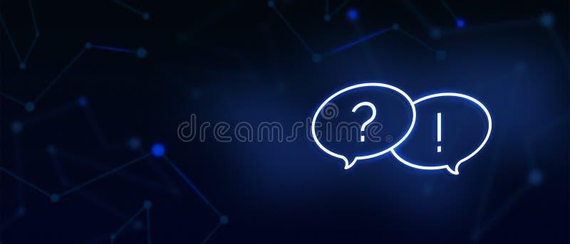 Οι συχνά ερωτήσεις, το εικονίδιο ερωταποκρίσεων, μας έρχονται σε επαφή με, σελίδα FAQ, μας γράφουν σε, λύσεις, γραφείο βοήθειας,  διανυσματική απεικόνιση
