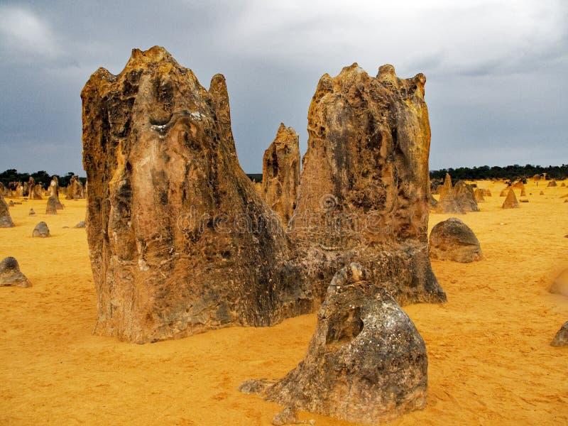 Οι σχηματισμοί βράχου ασβεστόλιθων πυραμίδων, δυτική Αυστραλία στοκ εικόνες με δικαίωμα ελεύθερης χρήσης