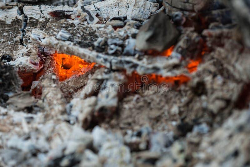 Οι τελευταίοι άνθρακες μιας καίω-κάτω πυρκαγιάς στοκ εικόνες με δικαίωμα ελεύθερης χρήσης