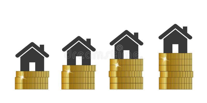 Οι τιμές ακίνητων περιουσιών αυξάνονται ελεύθερη απεικόνιση δικαιώματος