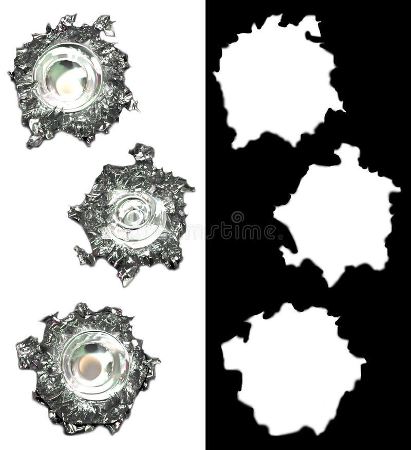οι τρύπες σαλιασμάτων σφ&alph διανυσματική απεικόνιση
