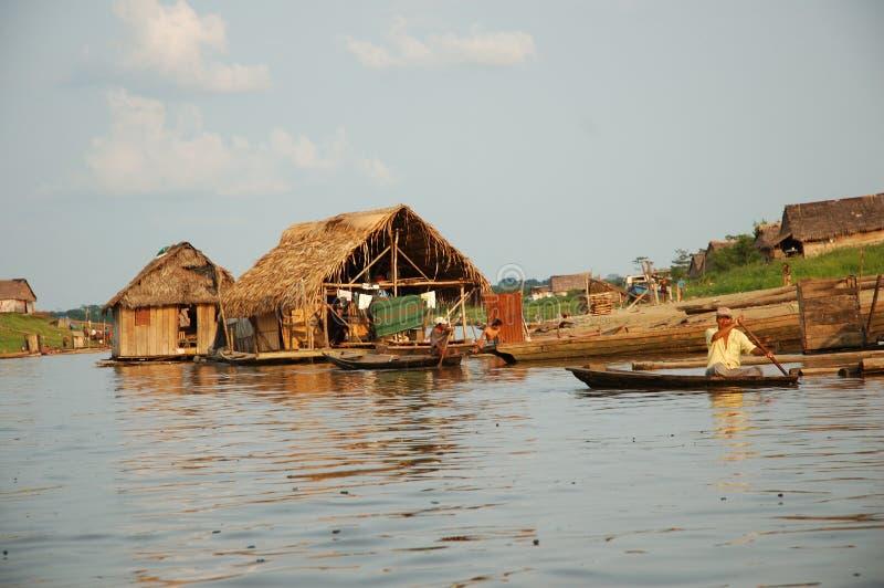 Οι τρώγλες του χωριού της Belen σε Iquitos στοκ φωτογραφία με δικαίωμα ελεύθερης χρήσης