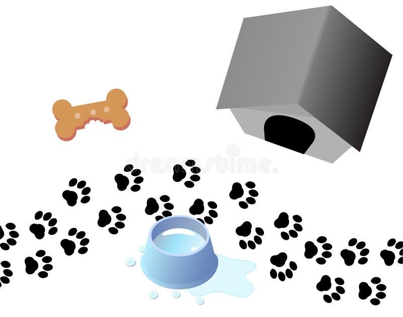 οι τυπωμένες ύλες ποδιών ρείθρων σκυλιών μεταχειρίζονται διανυσματική απεικόνιση