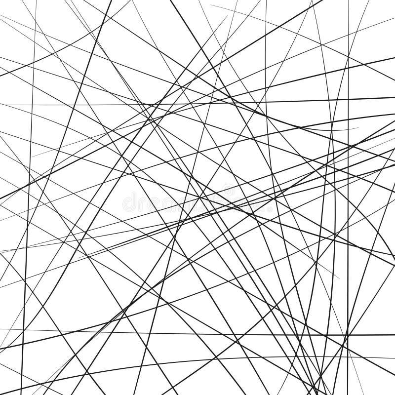 Οι τυχαίες χαοτικές γραμμές λουρίδων διαγώνια, αφαιρούν το γεωμετρικό σχέδιο υποβάθρου Διανυσματική απεικόνιση σύγχρονης τέχνης,  απεικόνιση αποθεμάτων