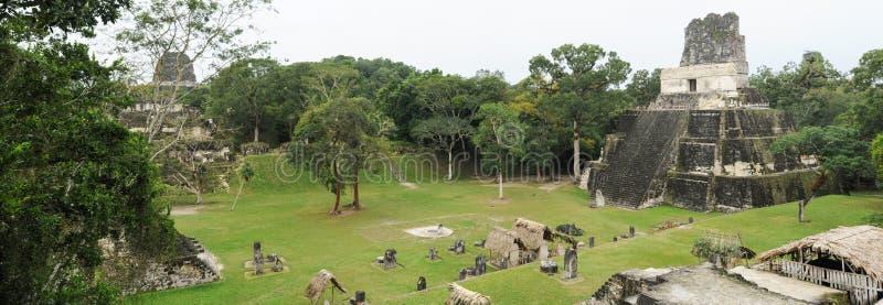 Οι των Μάγια καταστροφές Tikal στοκ φωτογραφία