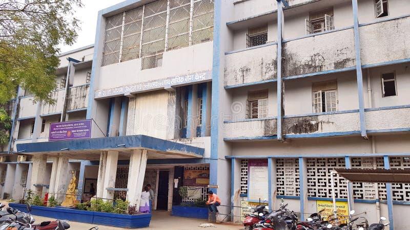 Οι υπάλληλοι του Indore δηλώνουν το νοσοκομείο ασφαλιστικών εταιριών στοκ φωτογραφία