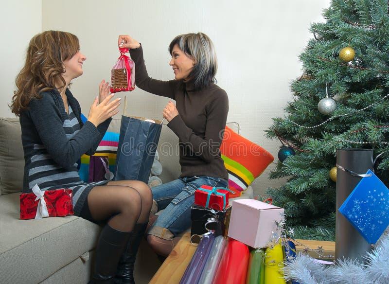 οι φίλοι Χριστουγέννων π&alpha στοκ εικόνες με δικαίωμα ελεύθερης χρήσης