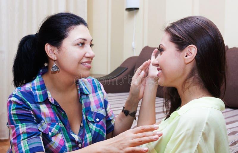 Οι φίλοι γυναικών επικοινωνούν στοκ εικόνα με δικαίωμα ελεύθερης χρήσης
