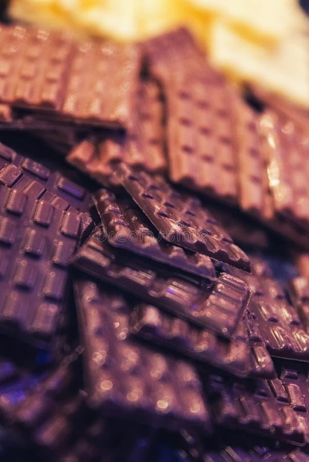 Οι φραγμοί σοκολάτας κλείνουν επάνω στοκ φωτογραφία με δικαίωμα ελεύθερης χρήσης