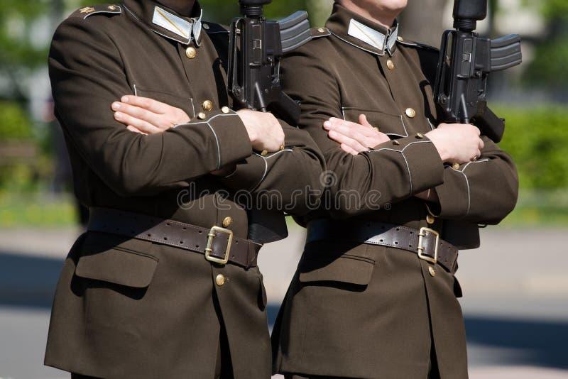 οι φρουρές τιμούν στοκ φωτογραφίες με δικαίωμα ελεύθερης χρήσης