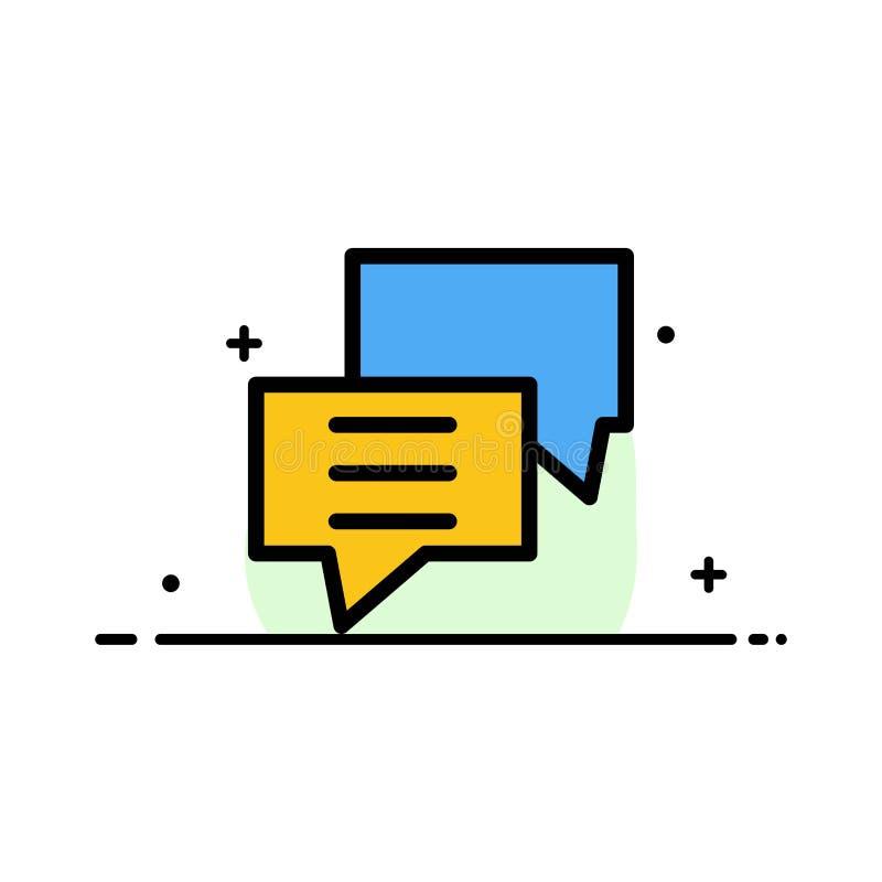 Οι φυσαλίδες, συνομιλία, πελάτης, συζητούν, ομαδοποιούν πρότυπο εμβλημάτων επιχειρησιακών το επίπεδο γεμισμένο γραμμή εικονιδίων  ελεύθερη απεικόνιση δικαιώματος