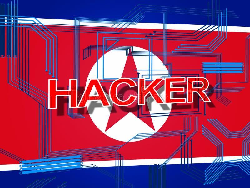 Οι χάκερ από τη Βόρεια Κορέα επιτίθενται στην τρισδιάστατη απεικόνιση διανυσματική απεικόνιση