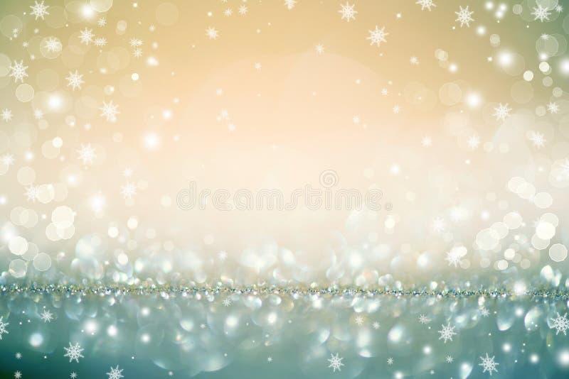 Οι χρυσές διακοπές Χριστουγέννων το υπόβαθρο στοκ φωτογραφίες