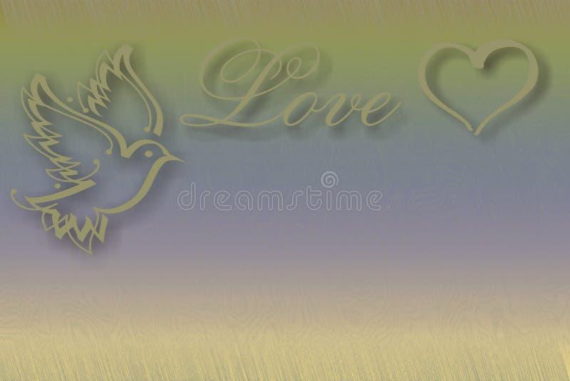 οι χρυσές καρδιές ανασκό&pi διανυσματική απεικόνιση