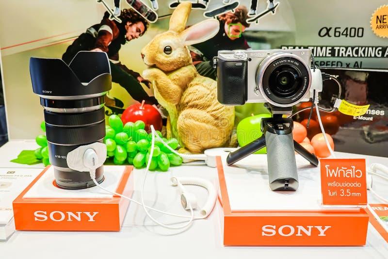 Οι ψηφιακές σειρές της Sony επιδεικνύουν και πώληση στο κατάστημα ηλεκτρονικής της Sony, στο Σιάμ paragon στη Μπανγκόκ, Ταϊλάνδη στοκ φωτογραφίες με δικαίωμα ελεύθερης χρήσης