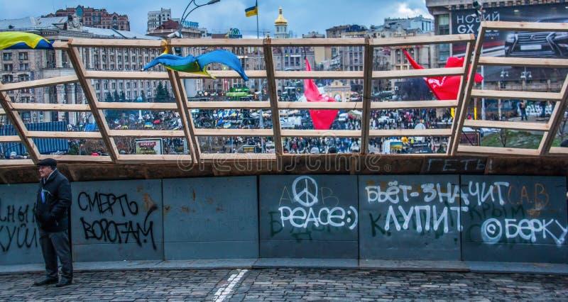 Οι euromaidan ημέρες στο Κίεβο, Ουκρανία στοκ φωτογραφίες