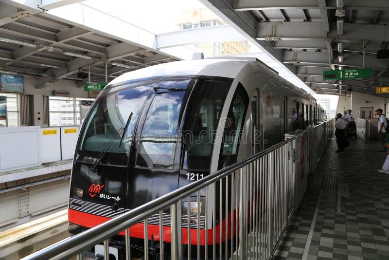 ΟΚΙΝΆΟΥΑ - 8 ΟΚΤΩΒΡΊΟΥ: Μονοτρόχιος σιδηρόδρομος στη Οκινάουα, Ιαπωνία στις 8 Οκτωβρίου 2016 στοκ φωτογραφία με δικαίωμα ελεύθερης χρήσης