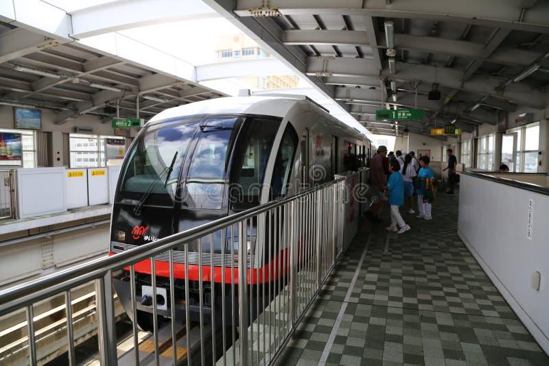 ΟΚΙΝΆΟΥΑ - 8 ΟΚΤΩΒΡΊΟΥ: Μονοτρόχιος σιδηρόδρομος στη Οκινάουα, Ιαπωνία στις 8 Οκτωβρίου 2016 στοκ φωτογραφίες με δικαίωμα ελεύθερης χρήσης