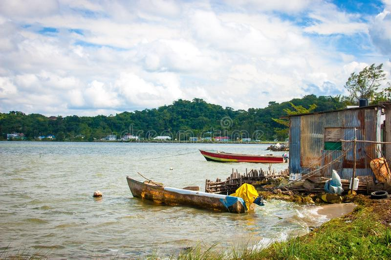 Οκνηρή βάρκα στοκ φωτογραφίες με δικαίωμα ελεύθερης χρήσης