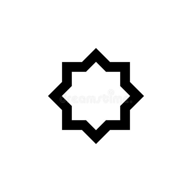 Οκτώ-δειγμένο εικονίδιο αστεριών Στοιχείο του θρησκευτικού εικονιδίου πολιτισμού Γραφικό εικονίδιο σχεδίου εξαιρετικής ποιότητας  ελεύθερη απεικόνιση δικαιώματος