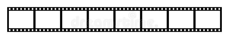 Οκτώ κενά πλαίσια της λουρίδας ταινιών 35 χιλ. απεικόνιση αποθεμάτων