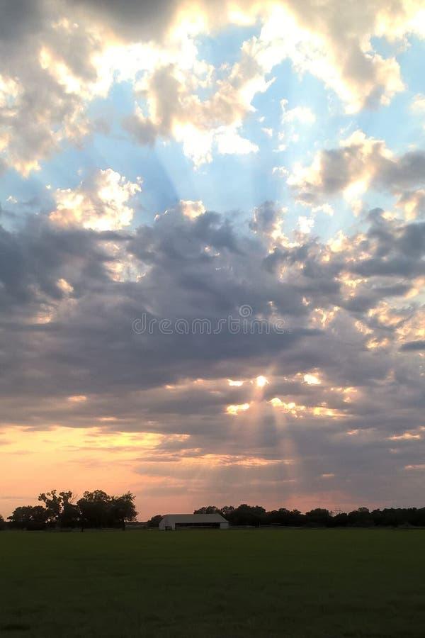 Οκλαχόμα Sunrises στοκ εικόνες