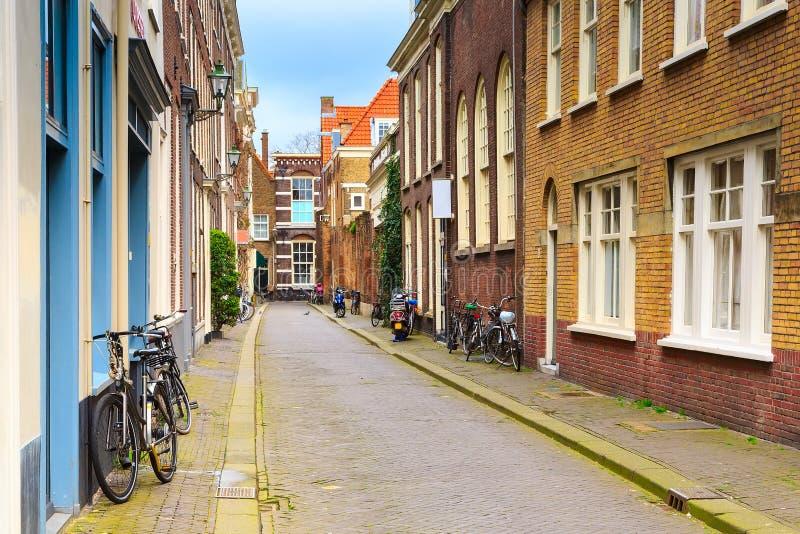 Ολλανδικά παραδοσιακά σπίτια στη Χάγη, Κάτω Χώρες στοκ εικόνες με δικαίωμα ελεύθερης χρήσης